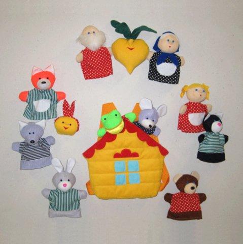 Куклы для домашнего театра своими руками